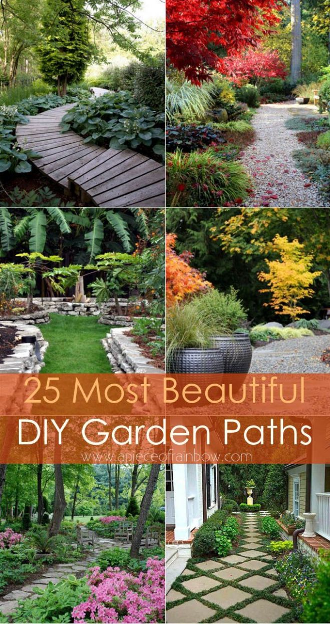 9 Most Beautiful DIY Garden Path Ideas (With images) | Diy garden ..
