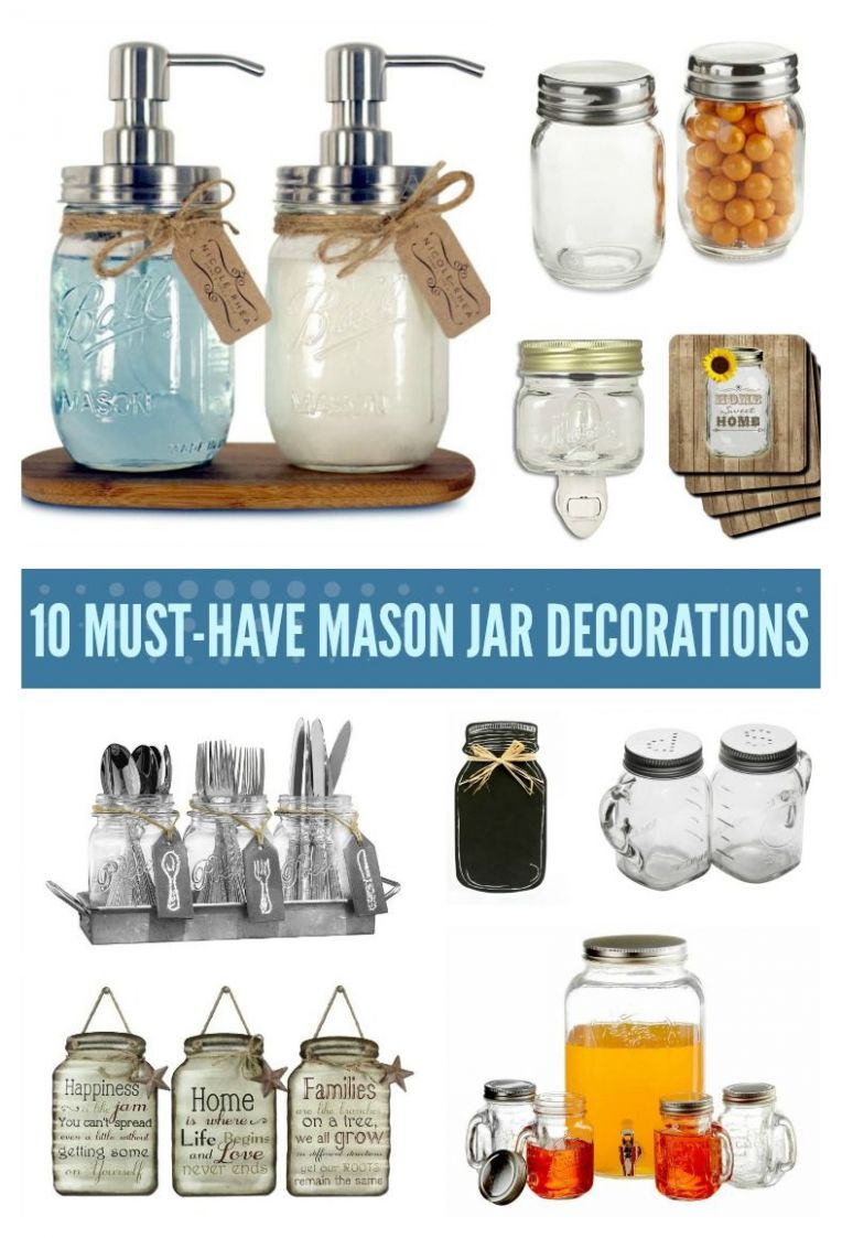 9 Must Have Mason Jar Decorations for the Kitchen (With images ..