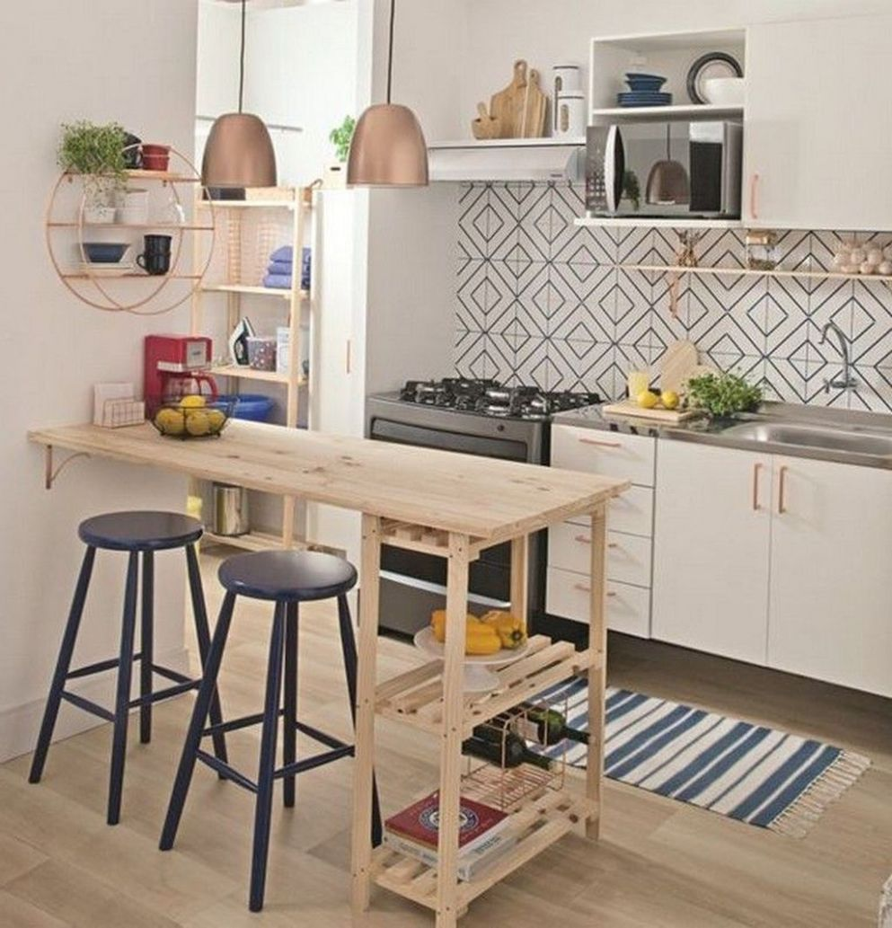 9 Perfect Small Apartment Kitchen Design And Decor Ideas - SearcHomee - apartment kitchen design ideas pictures