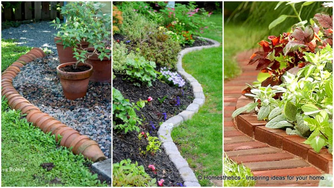 9 Simple and Cheap Garden Edging Ideas For Your Garden ...