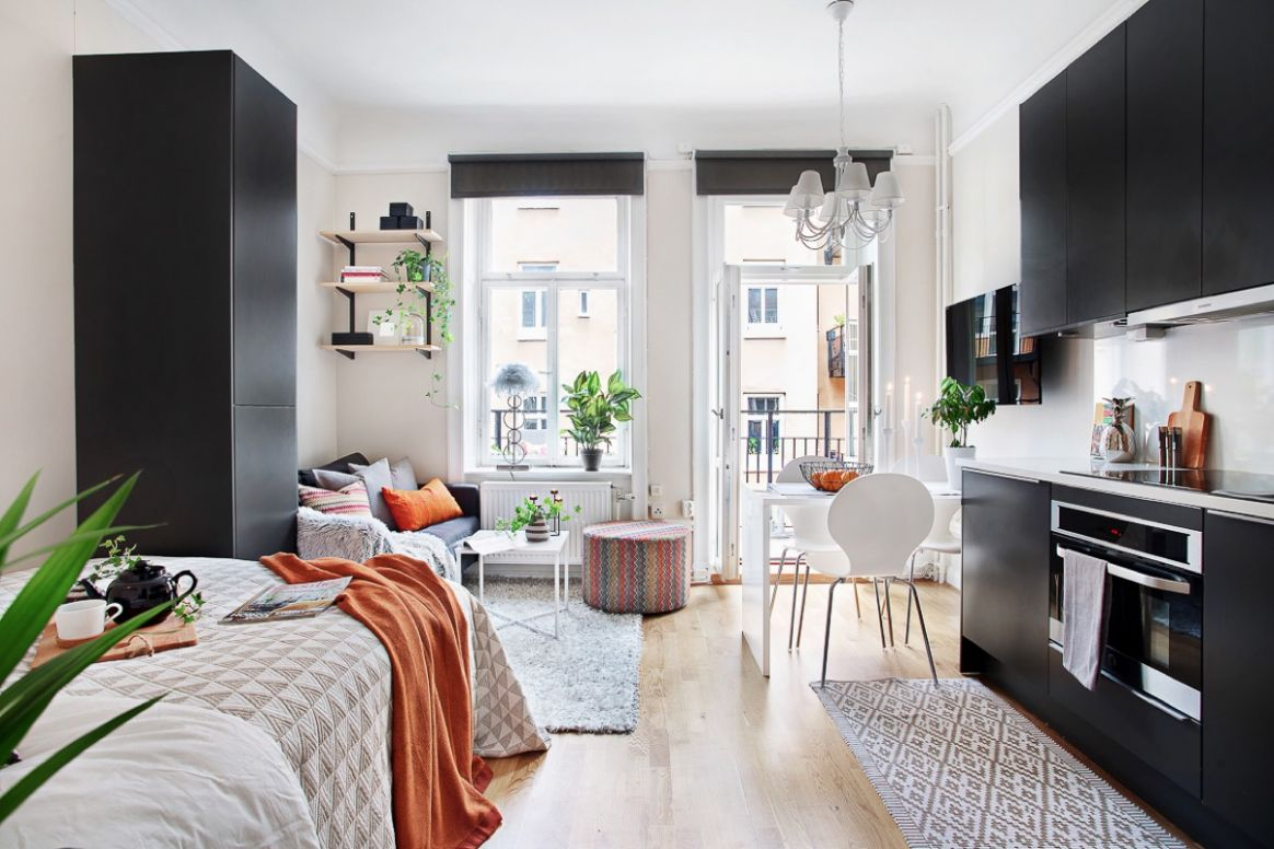 9 Small Studio Interior Designs That Give Little Places A Lift - apartment design interior