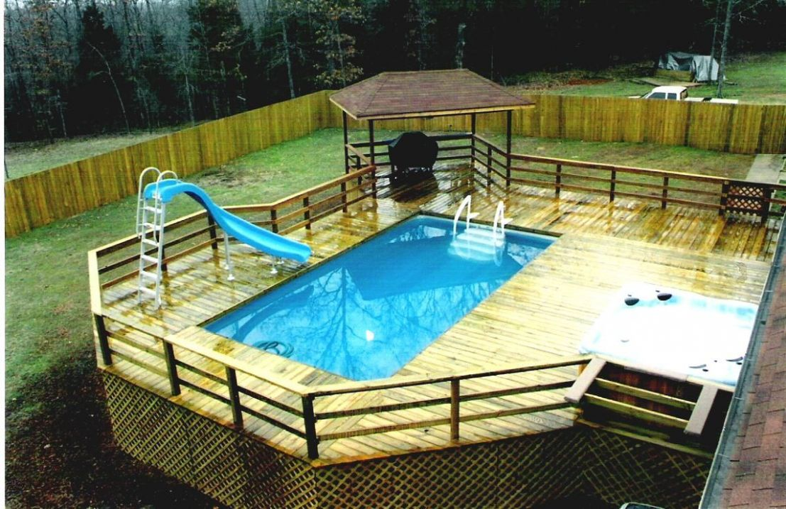 9s of Deck Railing Ideas and Designs | Pool deck plans, Swimming ...