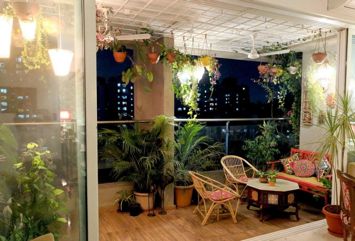 A Balcony Garden In Mumbai: Terrace Reveal | Apartment patio ..