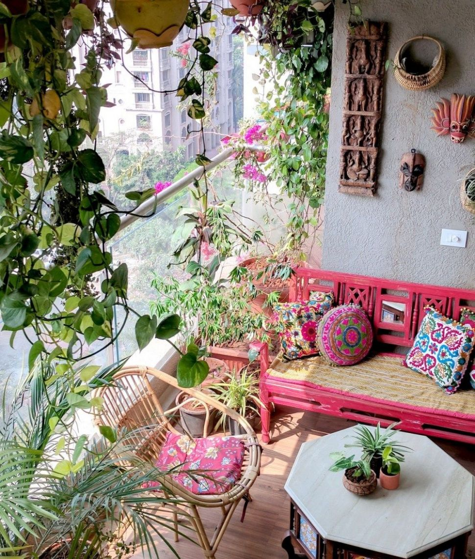 A Balcony Garden In Mumbai: Terrace Reveal | Small balcony decor ...