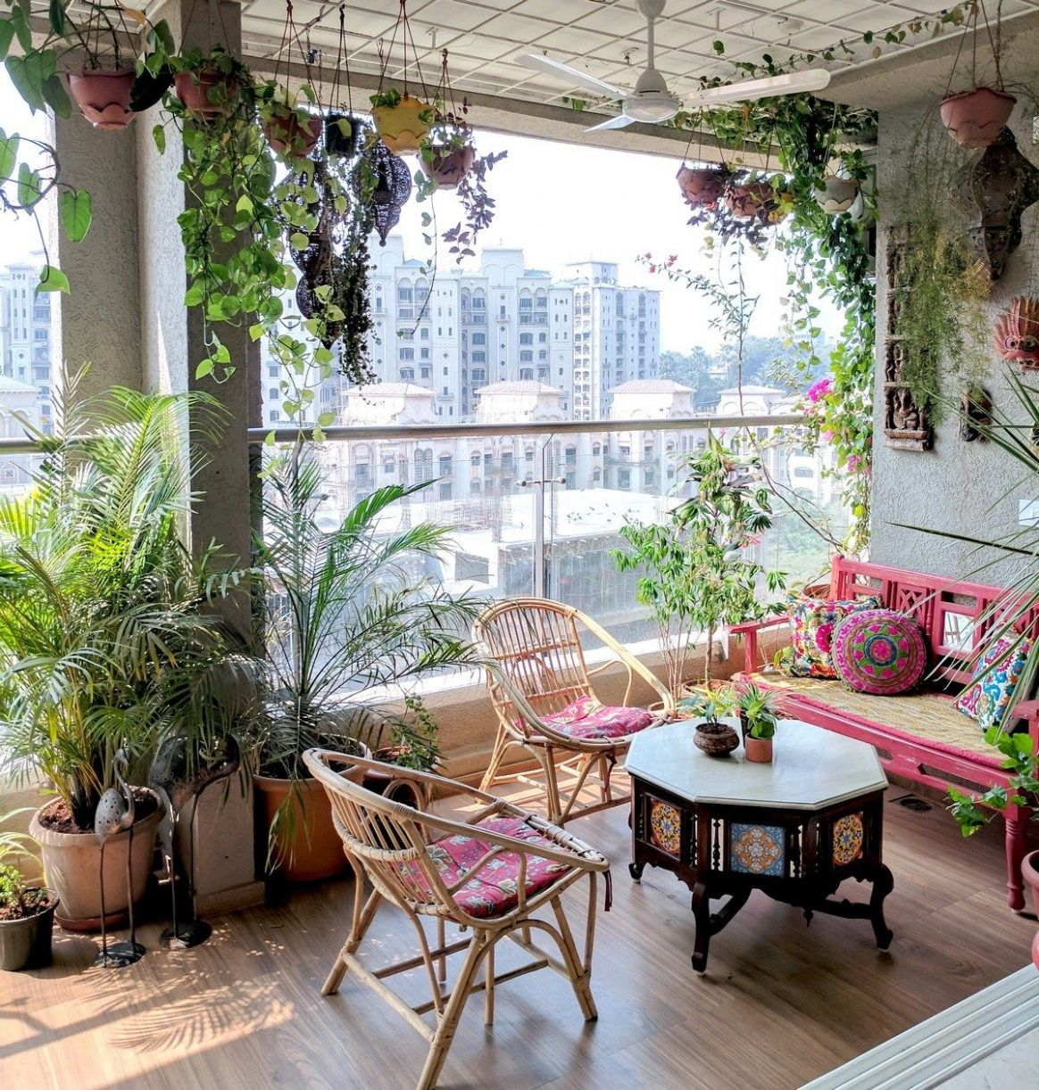 A Balcony Garden In Mumbai: Terrace Reveal | Terrace decor ..