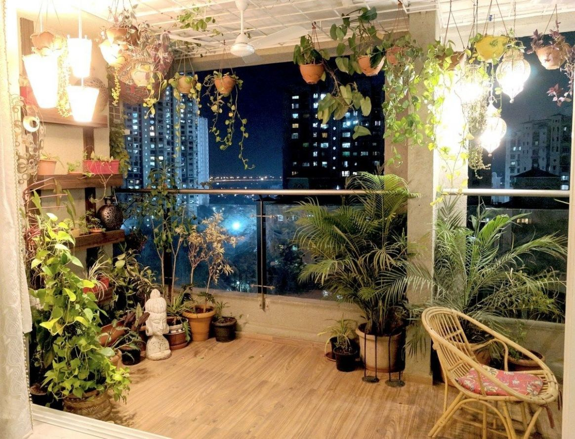 A Balcony Garden In Mumbai: Terrace Reveal | Terrace decor ...