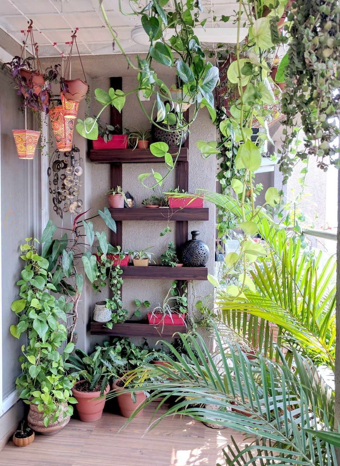 A Balcony Garden In Mumbai: Terrace Reveal (With images) | Patio ...