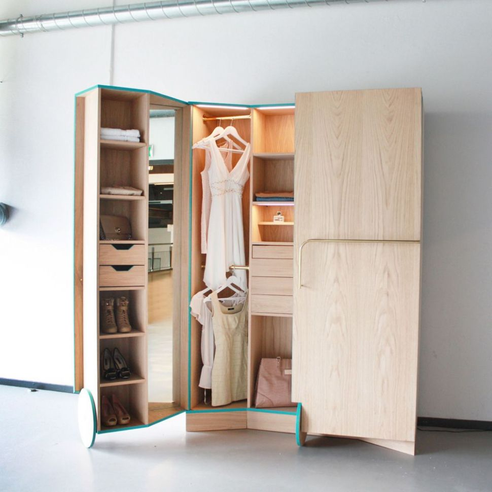 A Compact Walk-in Closet With Tons Of Hidden Storage | Closet ..