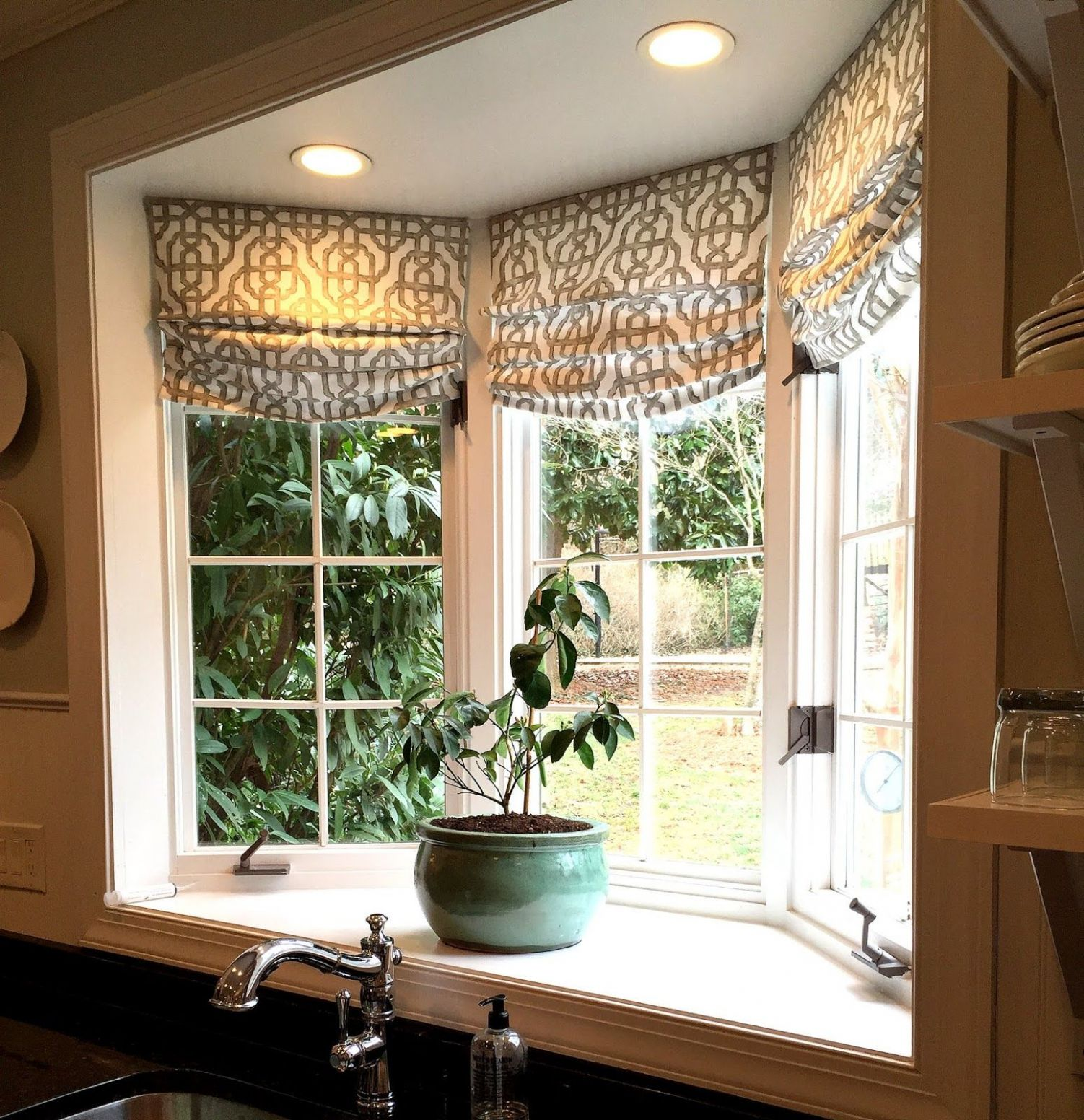 A Few Kitchen Updates | Bay window decor, Kitchen window ..