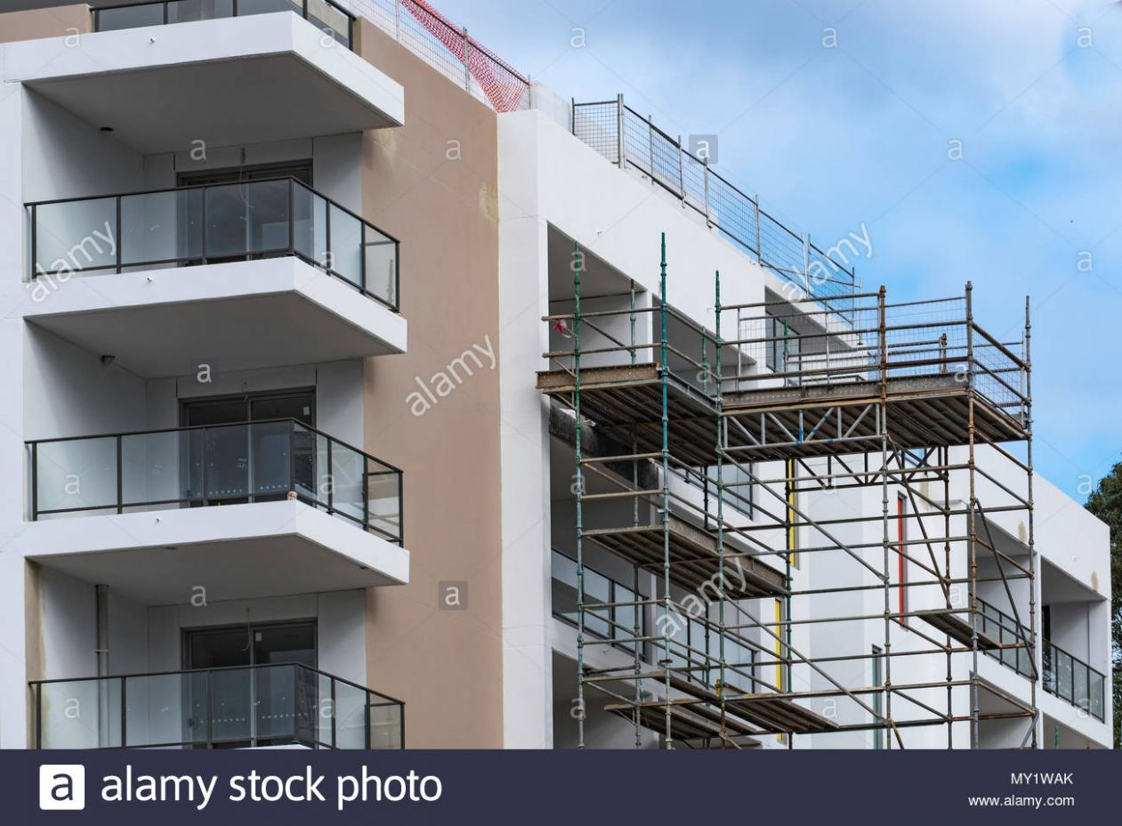 A new apartment block being built in Seven Hills, NSW Australia ..