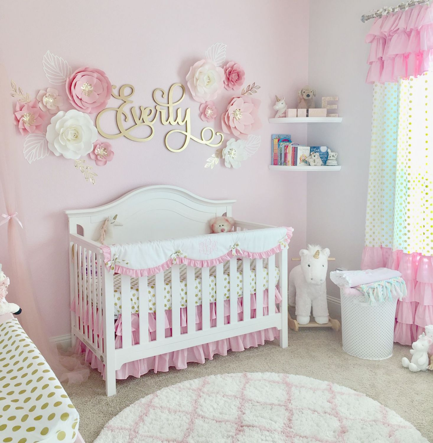 A Pink & Gold Nursery for Baby Everly (With images) | Pink gold ..