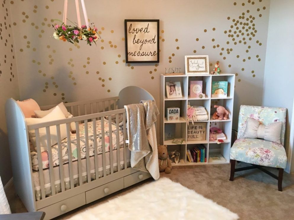 A Serene and Calming Nursery for Selah Grace (With images) | Baby ...