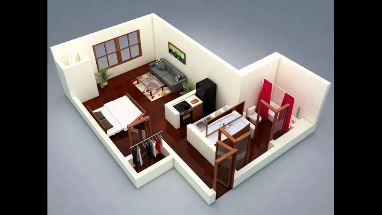 A Super Small Apartment Design With Floor Plan - YouTube - small apartment design youtube