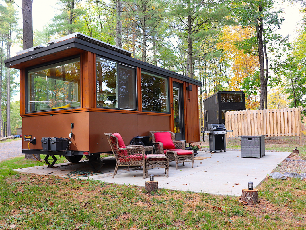 A tiny house resort with goats in the woods was the ultimate ...