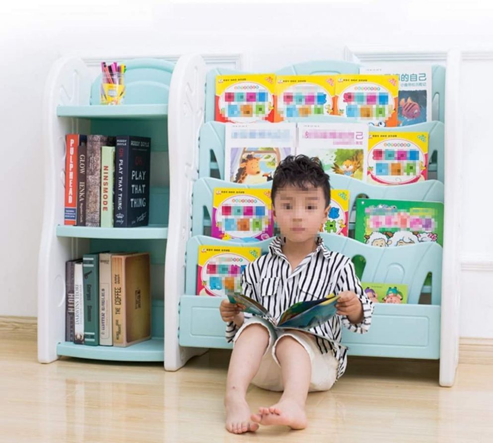 ACZZ Furniture Baby Bookshelf Children's Room Bookcase Boy and ...