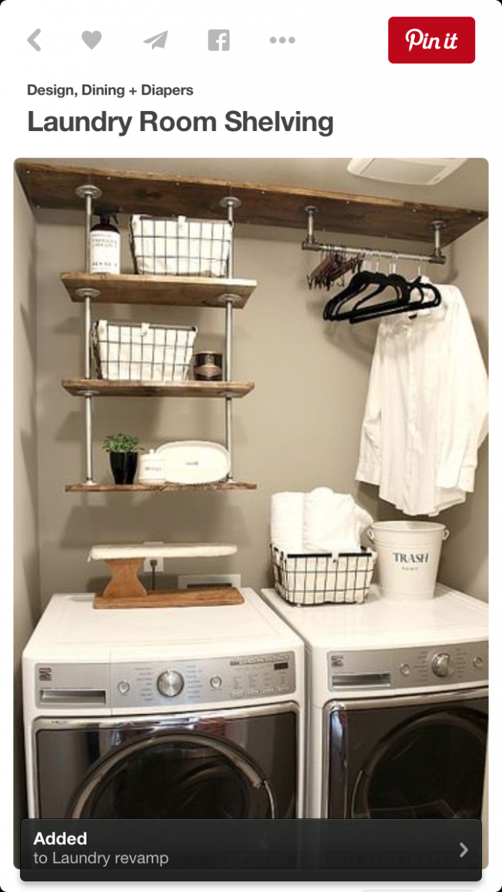 Add shower rod to hang clothes (With images) | Tiny laundry rooms ..