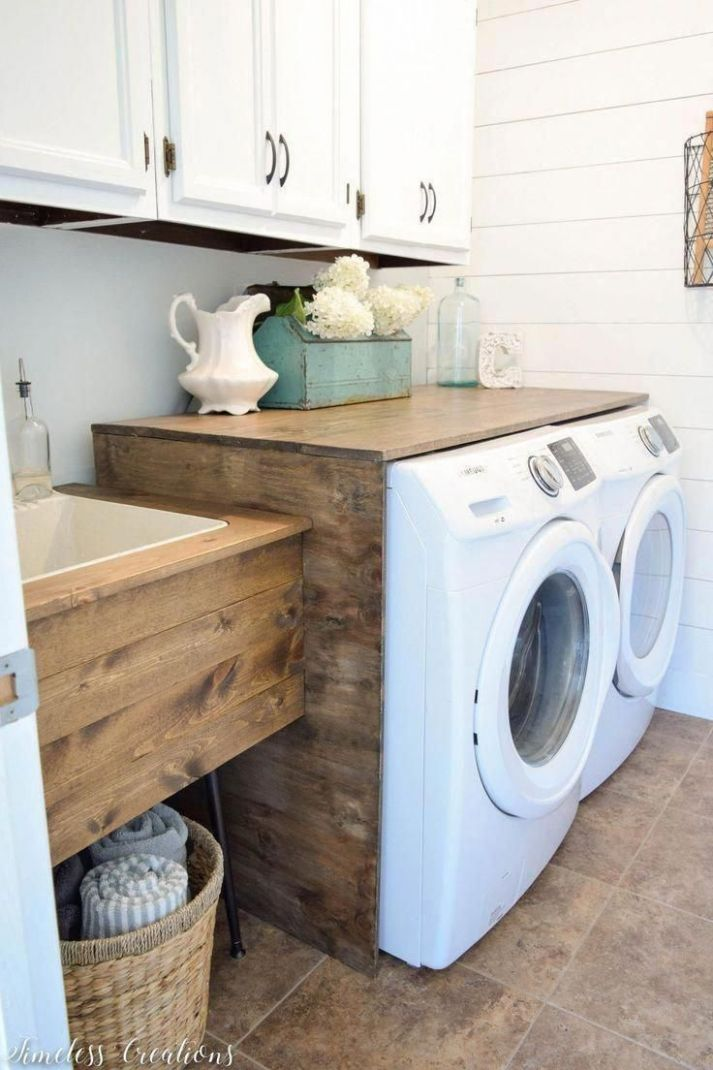 Alape Bucket Sink with Navy Trim in 9 | Laundry room layouts ..