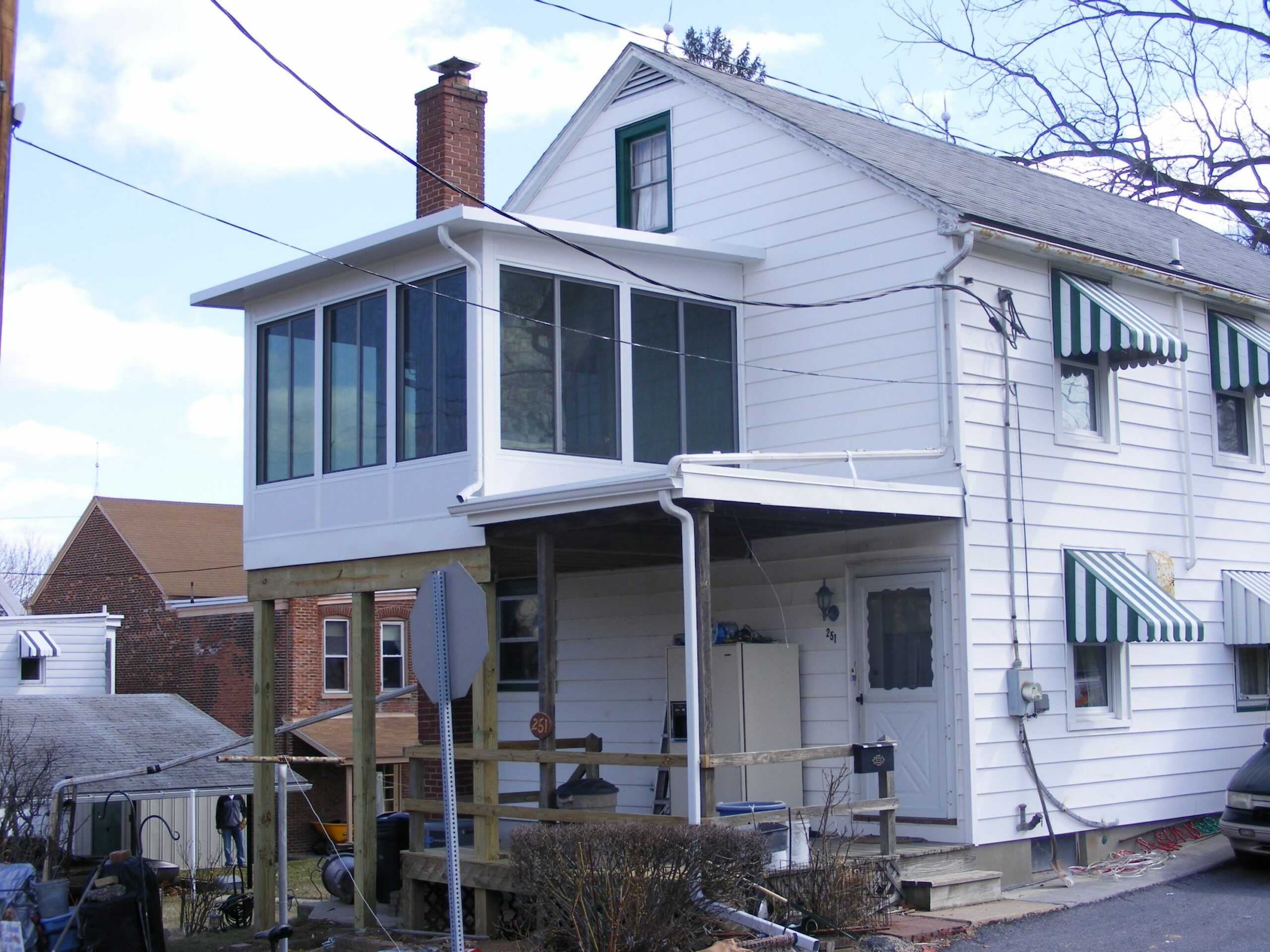 Allentown Home Remodel adds Upstairs Sunroom - Replacement Windows ...
