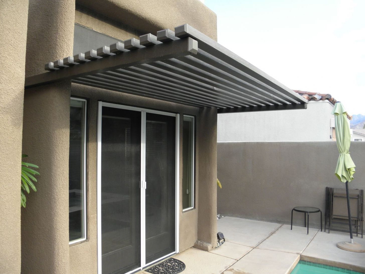 Aluminum Wood Awning, Palm Springs CA (With images)   Outdoor ...