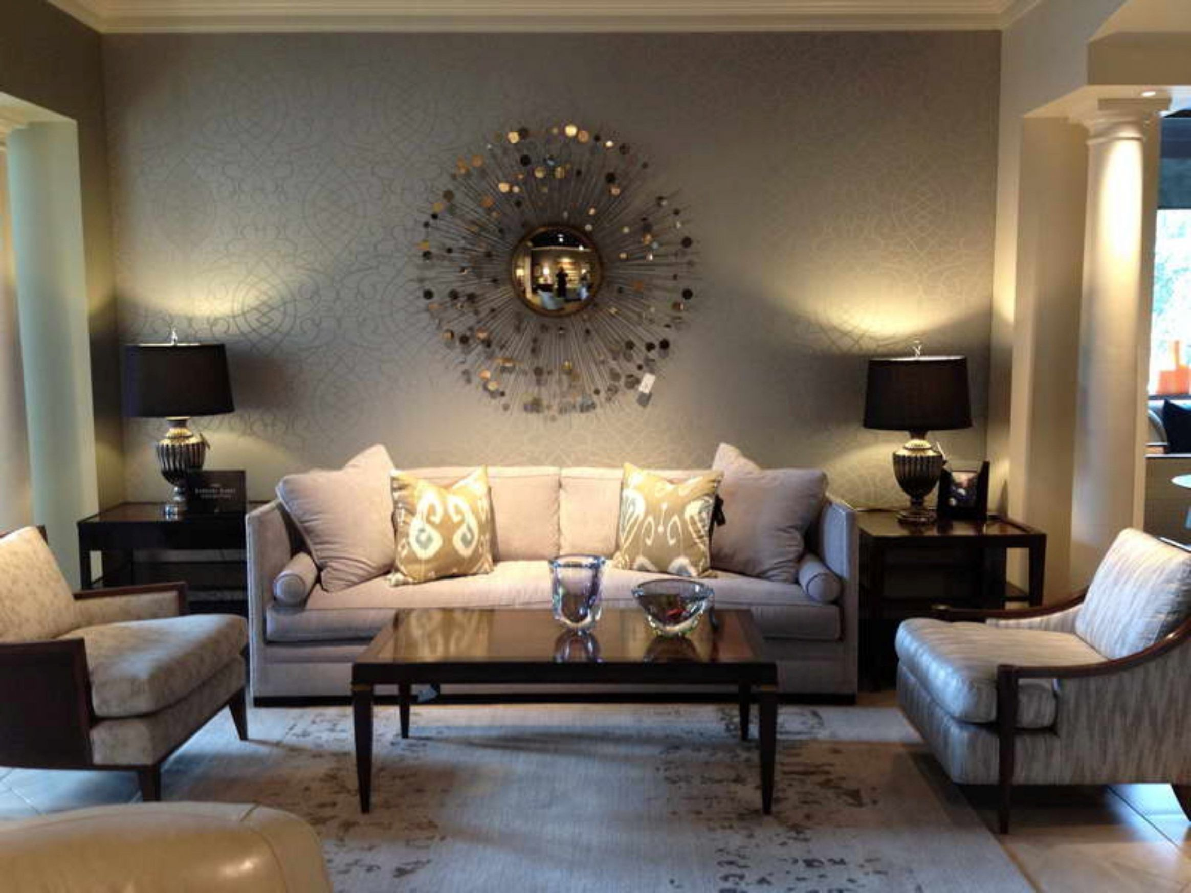 Amazing of Living Room Wall Decoration Ideas with Brown Wall Decor ..
