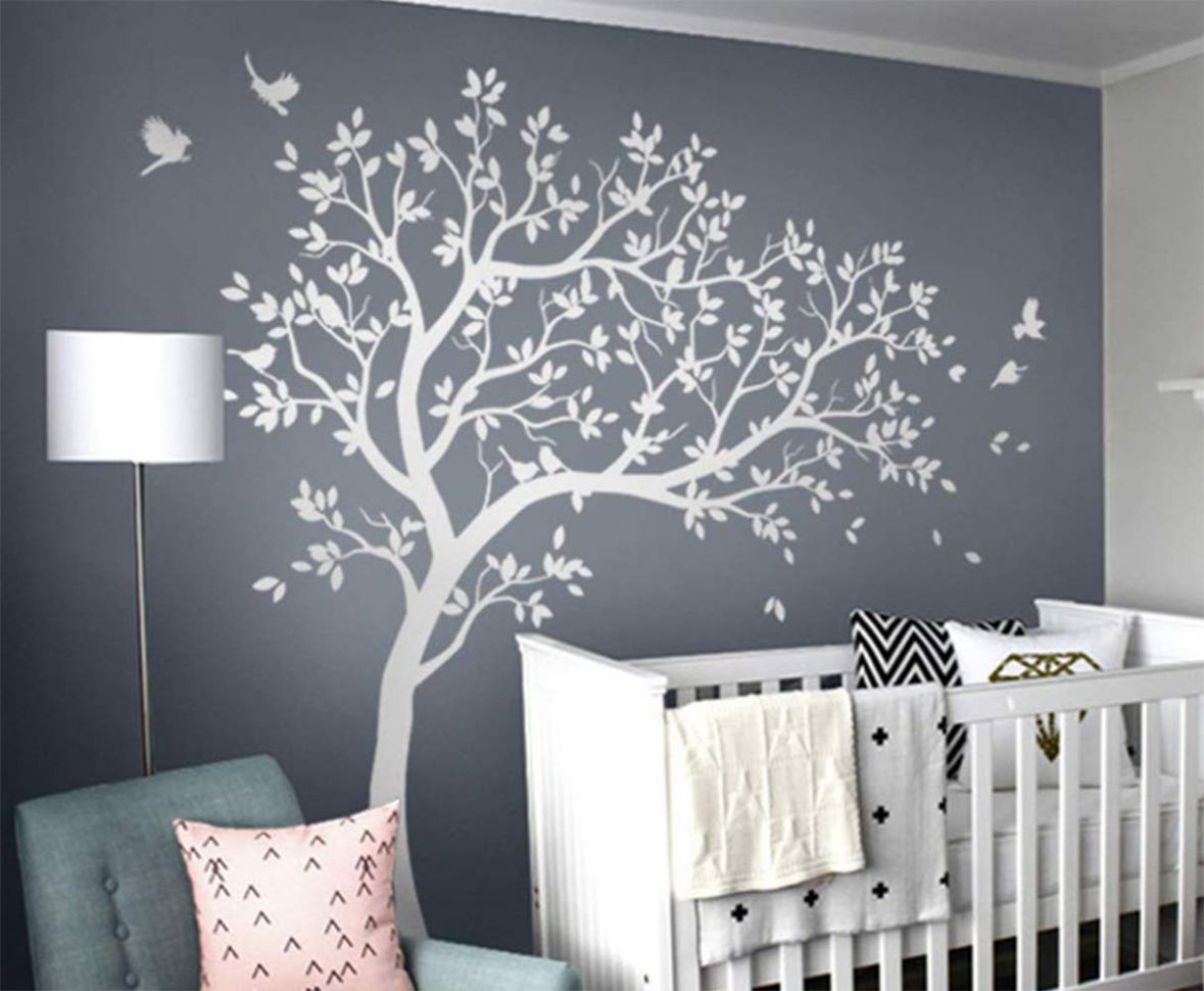Amazon.com: Baby room tree wall decal Nursery wall decor Tree with ..