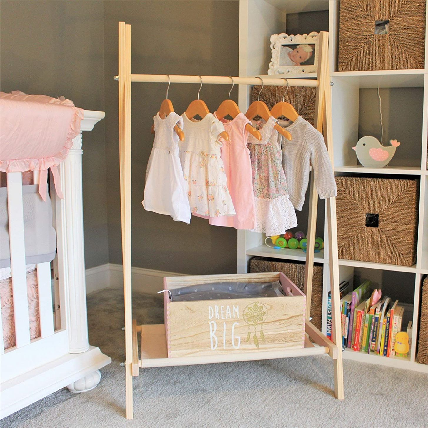 Amazon.com: Clothing Rack, Kids Room Decor, Nursery Organization ...