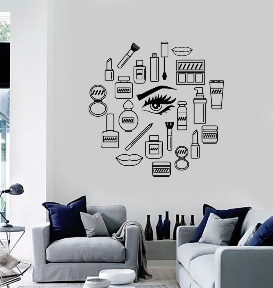 Amazon.com: Wall Sticker Room Decal Makeup Cosmetics Mascara ...