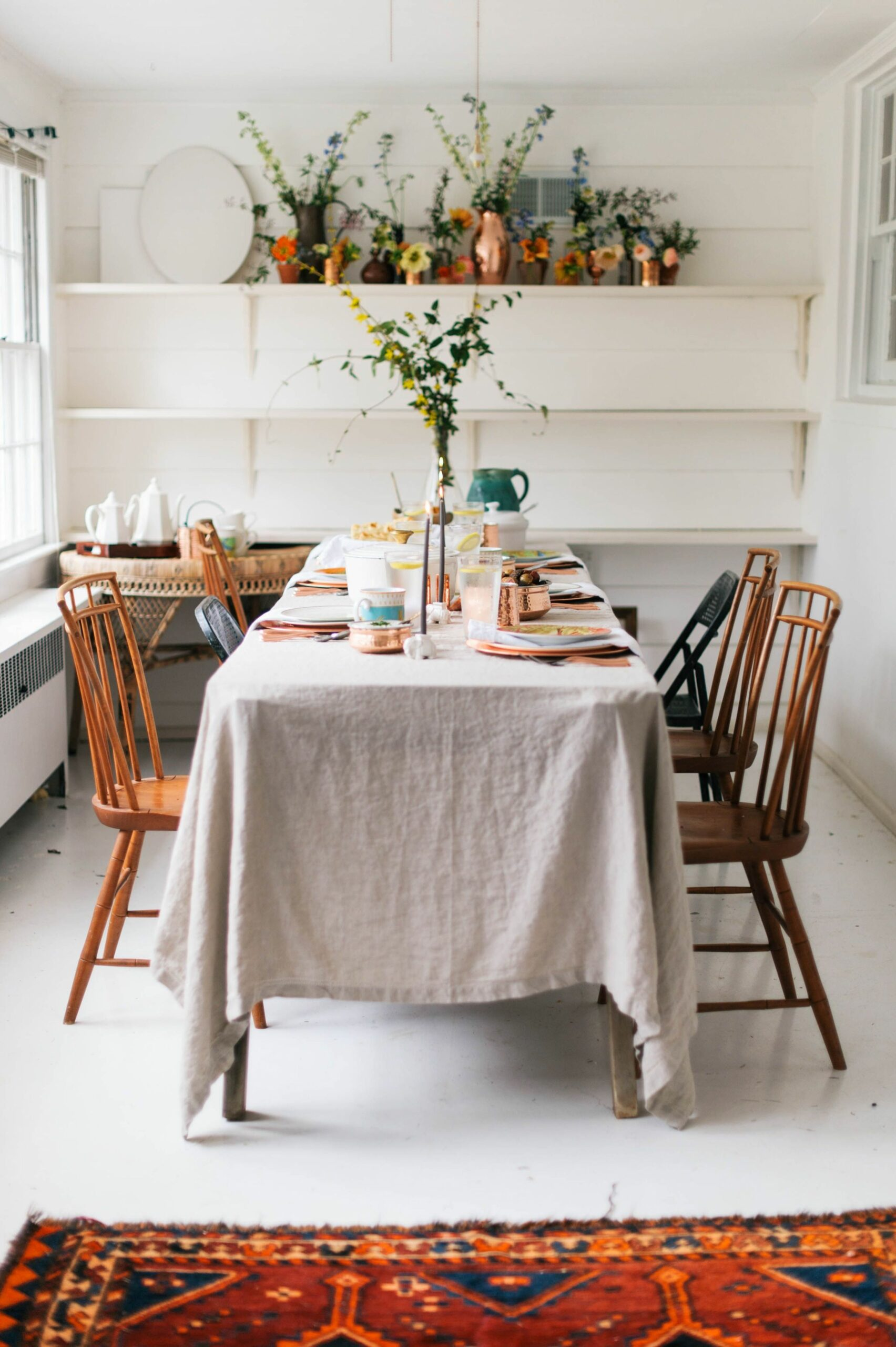 An India-Inspired Feast with Williams Sonoma | Dining room tablecloth