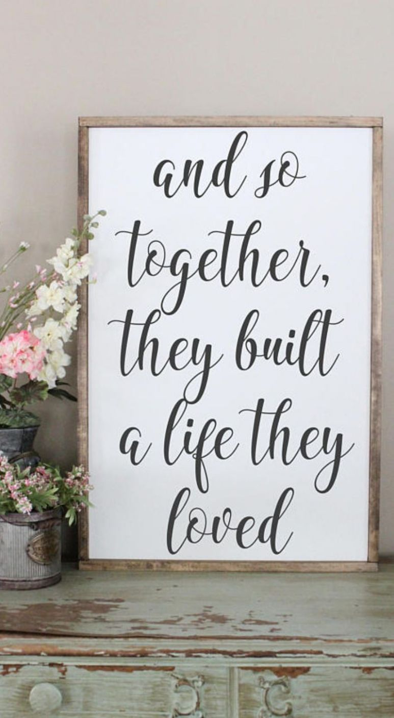 And So Together, They Built A Life They Loved Wood Sign, Framed ..