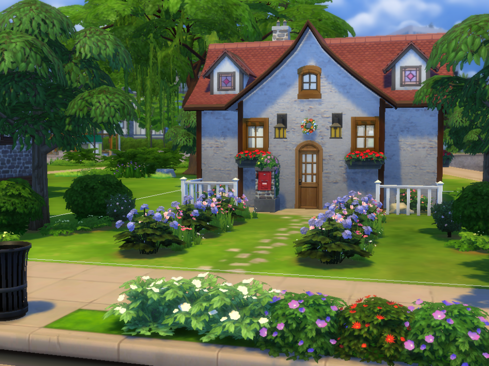 🍎 Animal Crossing inspired house I built in Sims 12 ...