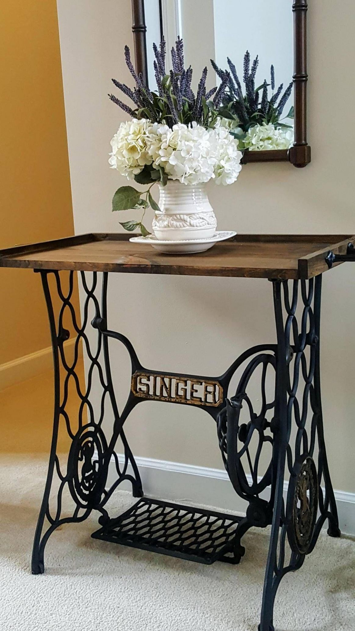 Antique Sewing Machine Makeover Diy Home Decor Glass Coffee Tables ..
