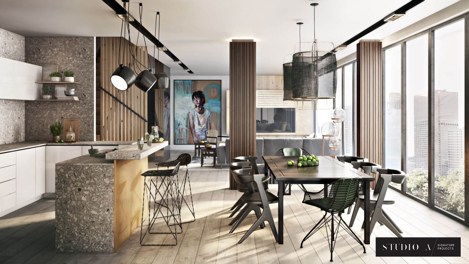 Apartment 12D Renders for NYC Interior Design Project - Ronen ...