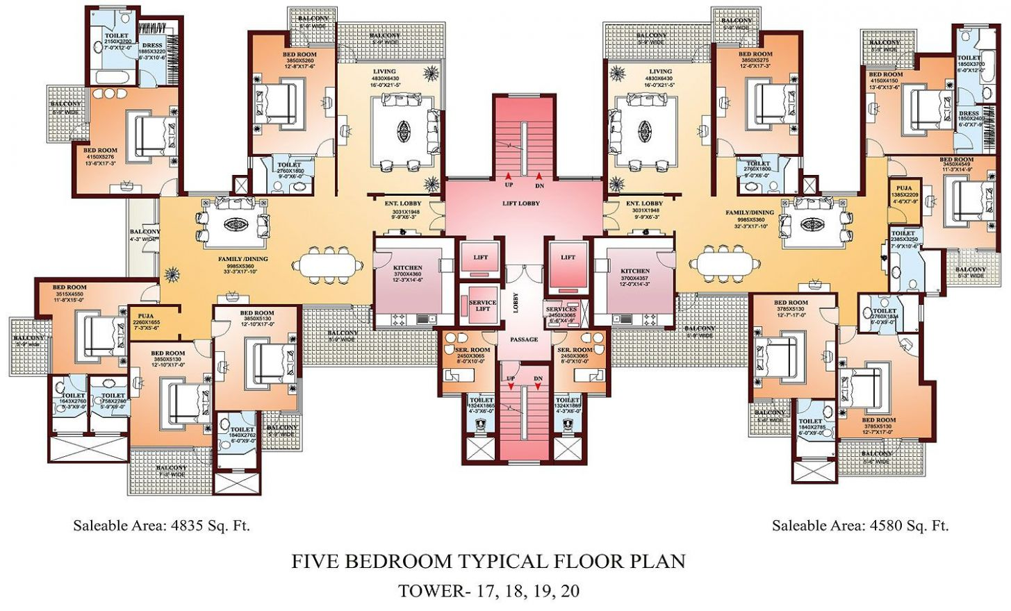 Apartment Floor Plans Designs (With images) | Condo floor plans ..