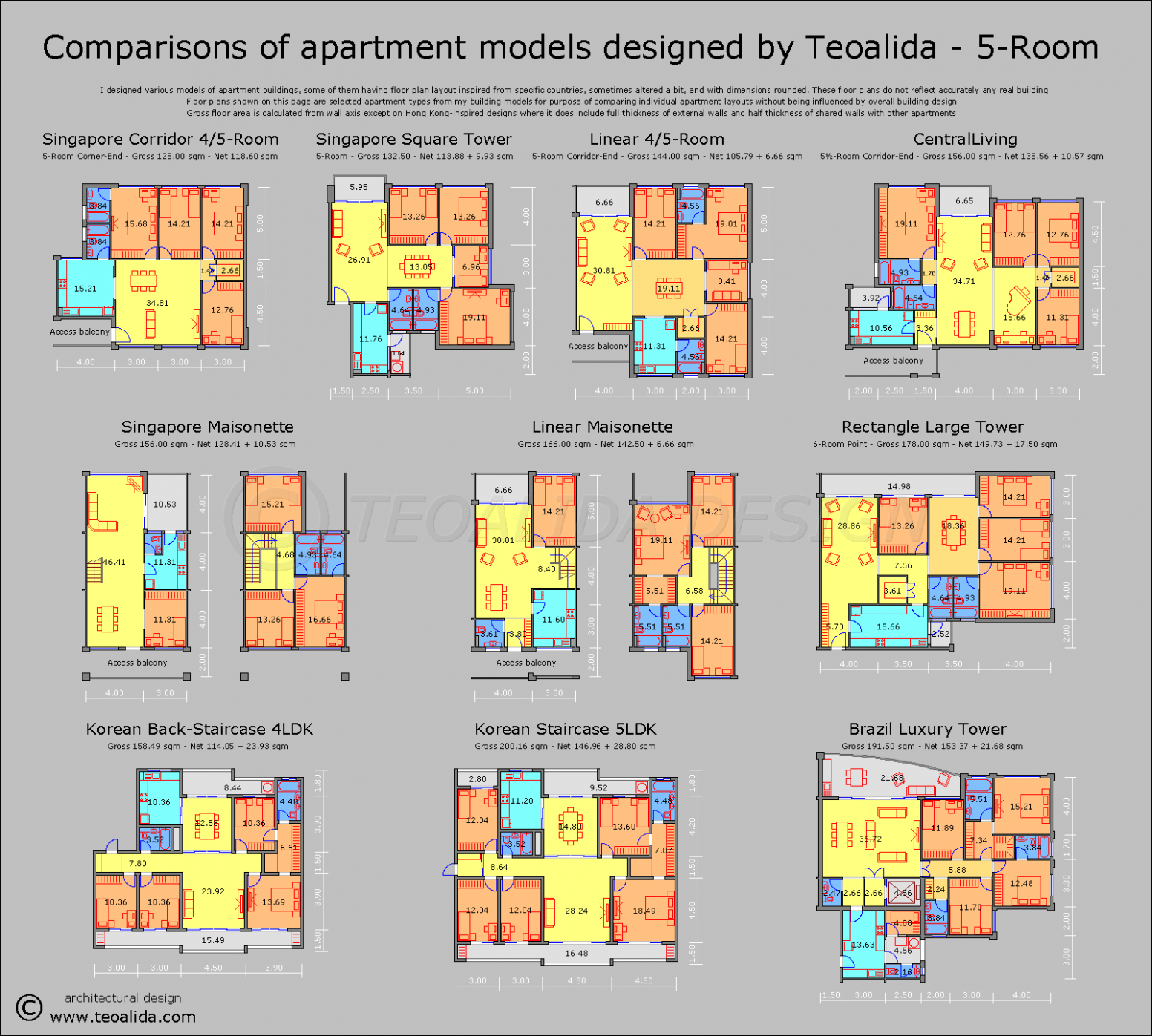 Apartment plans 12-12 sqm designed by me - Teoalida's website