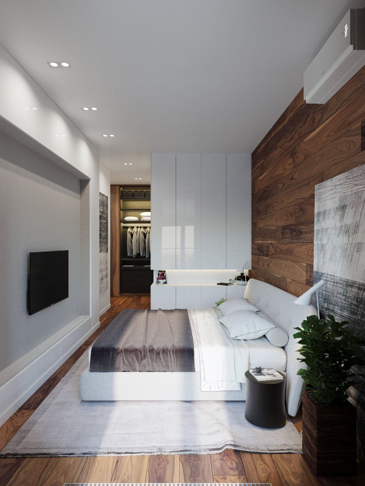 Applying a Rustic Studio Apartment Design Which Decor By Wooden ...