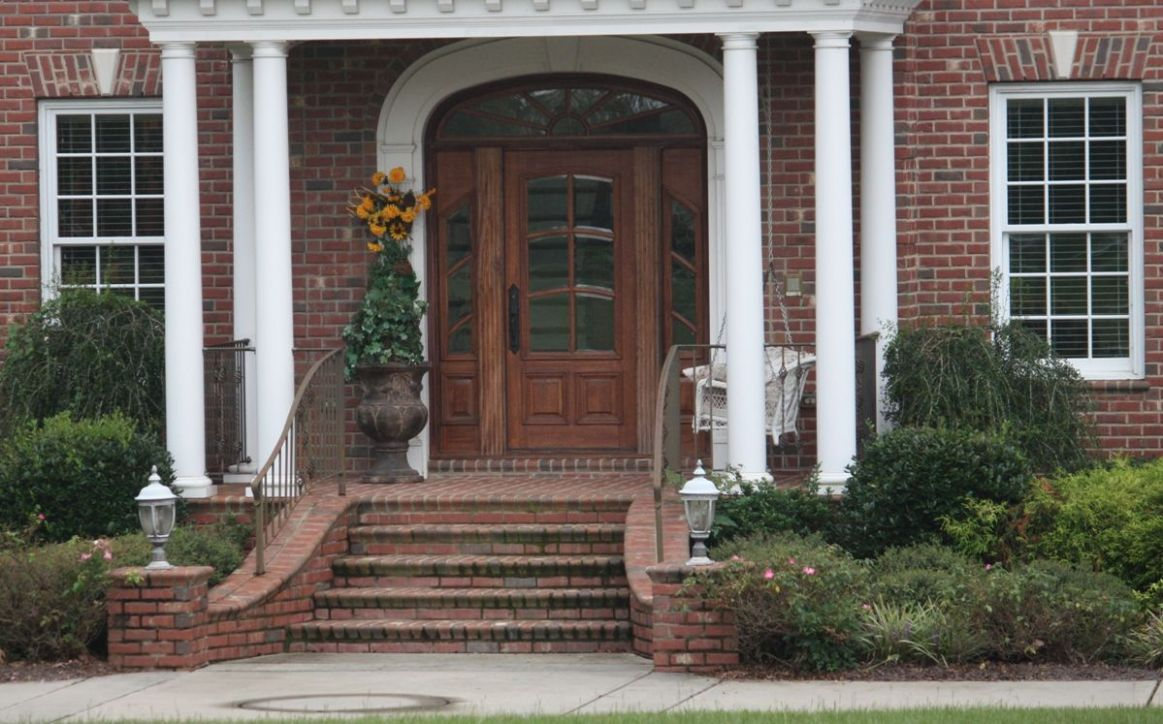 Architecture,Amazing Brick Front Porch Steps Ideas For Traditional ...