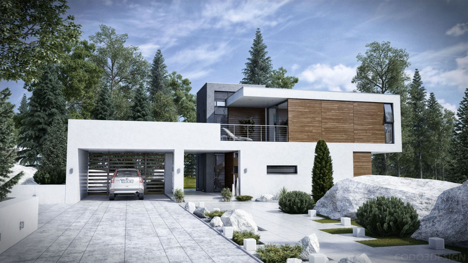 Architecture: Cool Large Modern Home With White Exterior And Eco ..