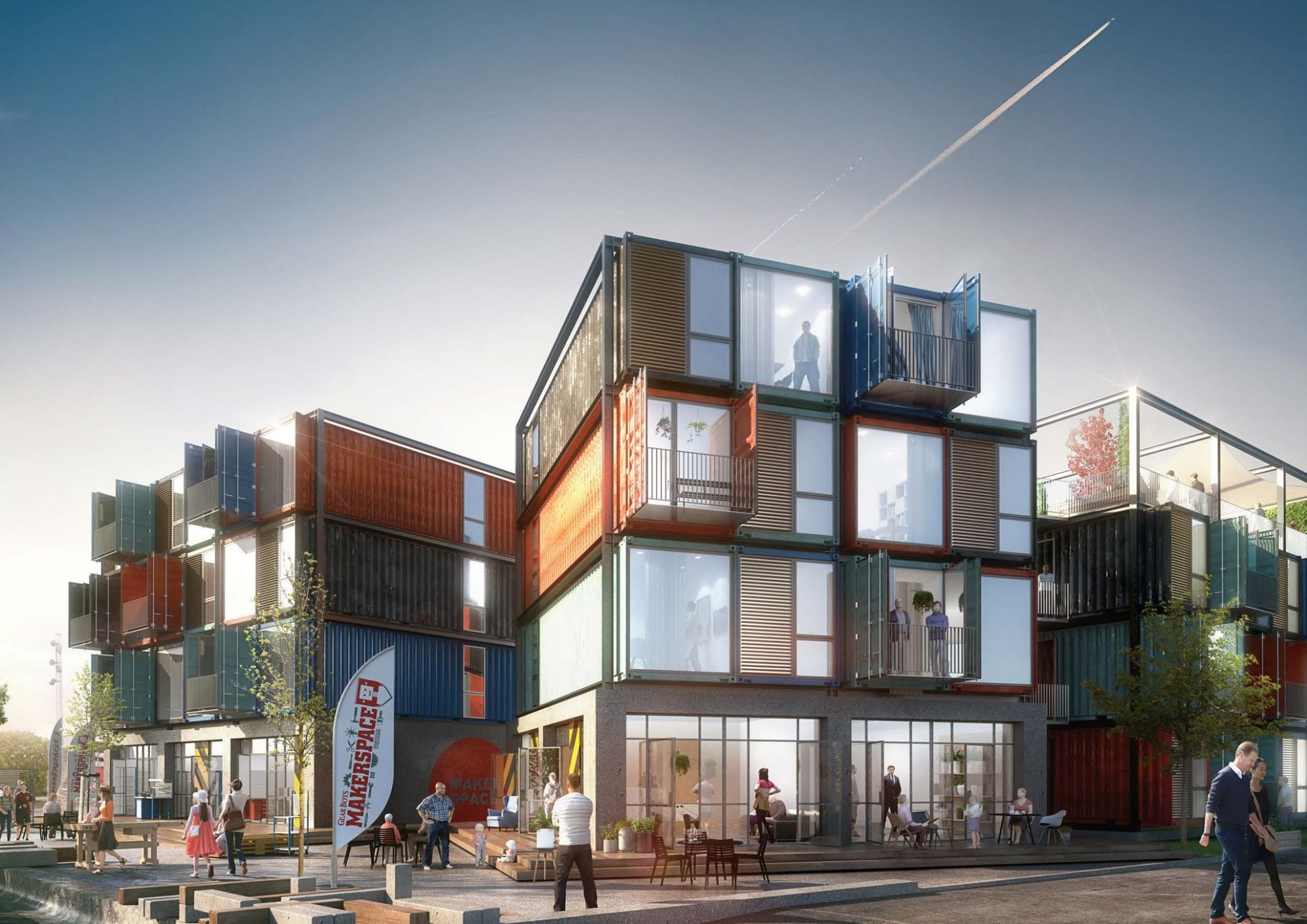 Arkitema Architects Designs 11 Shipping Container Apartments in ..