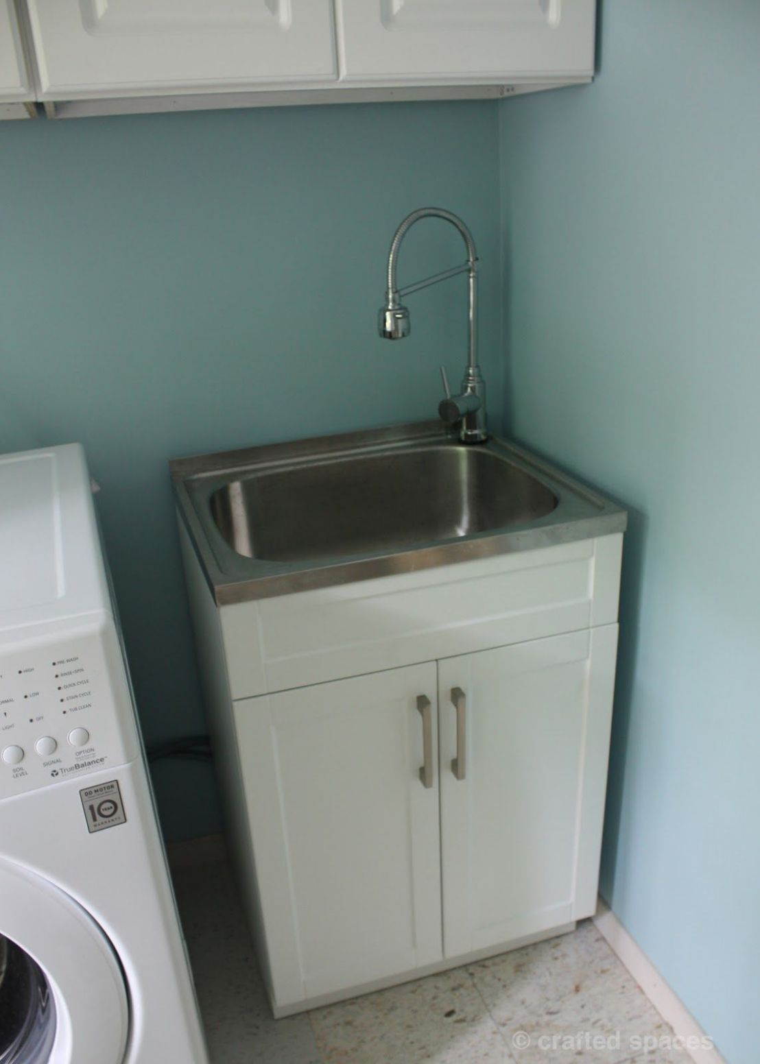 At Home: Laundry Room Makeover | Laundry room sink, Laundry room ..