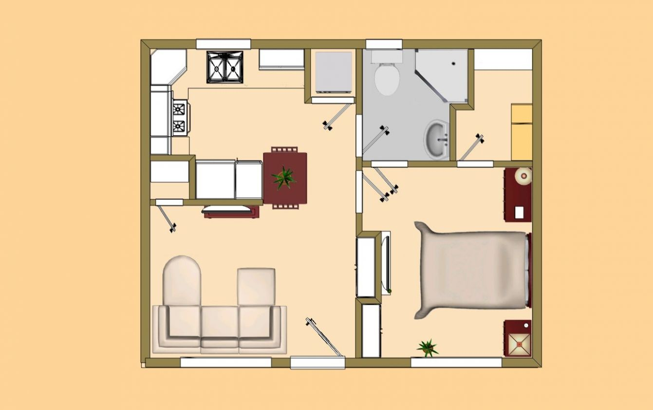 Awesome House Plans Under 122 Square Feet #12 Small House Plans ..