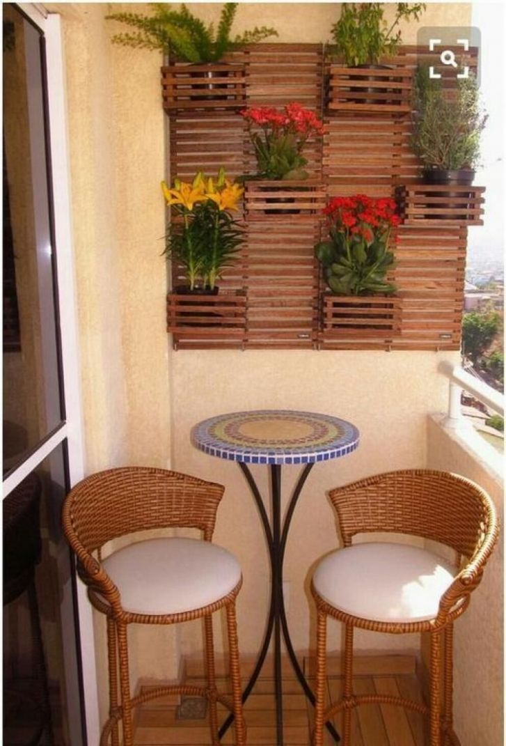 Awesome Small Balcony Design Ideas For Apartment | Small balcony ...