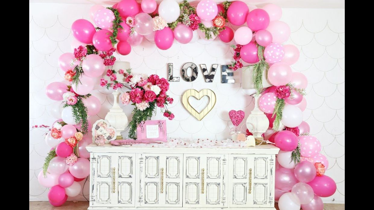 Awesome Wall Decoration For Engagement At Home (With images ..