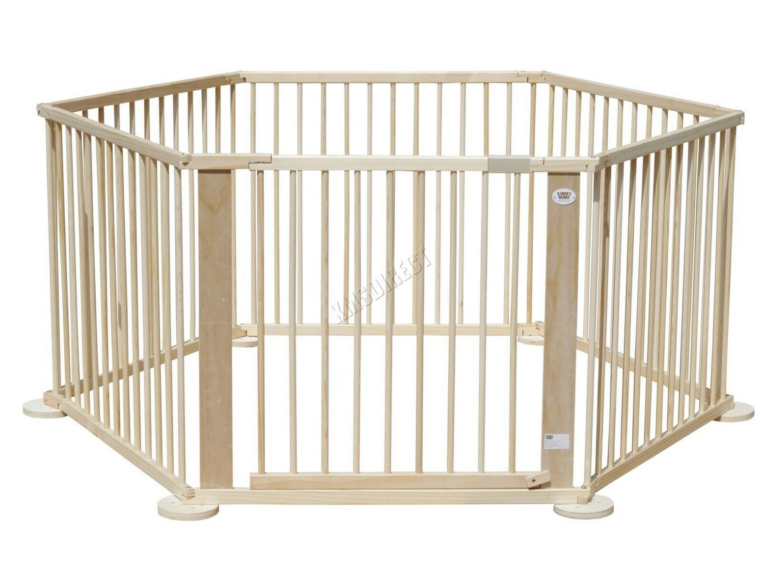 Baby Child Foldable Playpen Room Divider Pine Wood 11 Side Heavy Duty - baby room divider