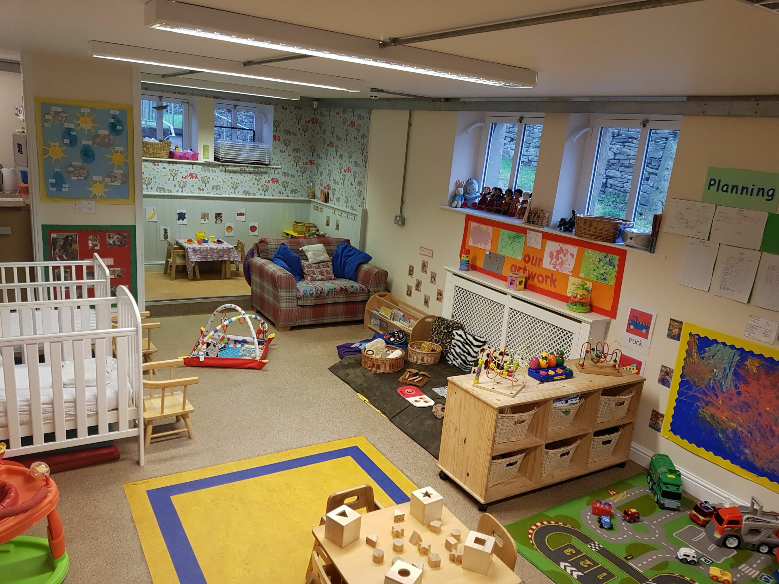 Baby room at Barnabys Day Nursery, Holmfirth - baby room routine