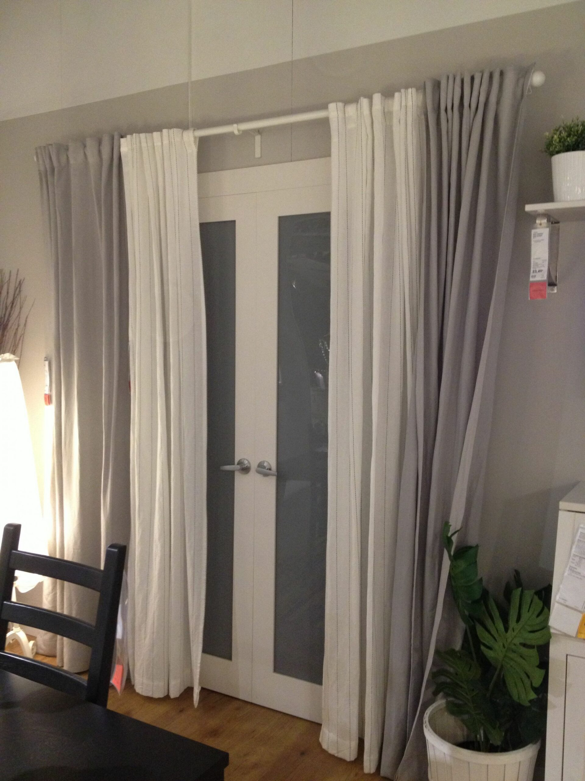 Back/patio door curtains -let sunlight in during the day -keep ..