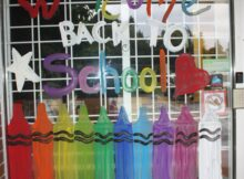 back to school window … | Back to school window display, Classroom ...