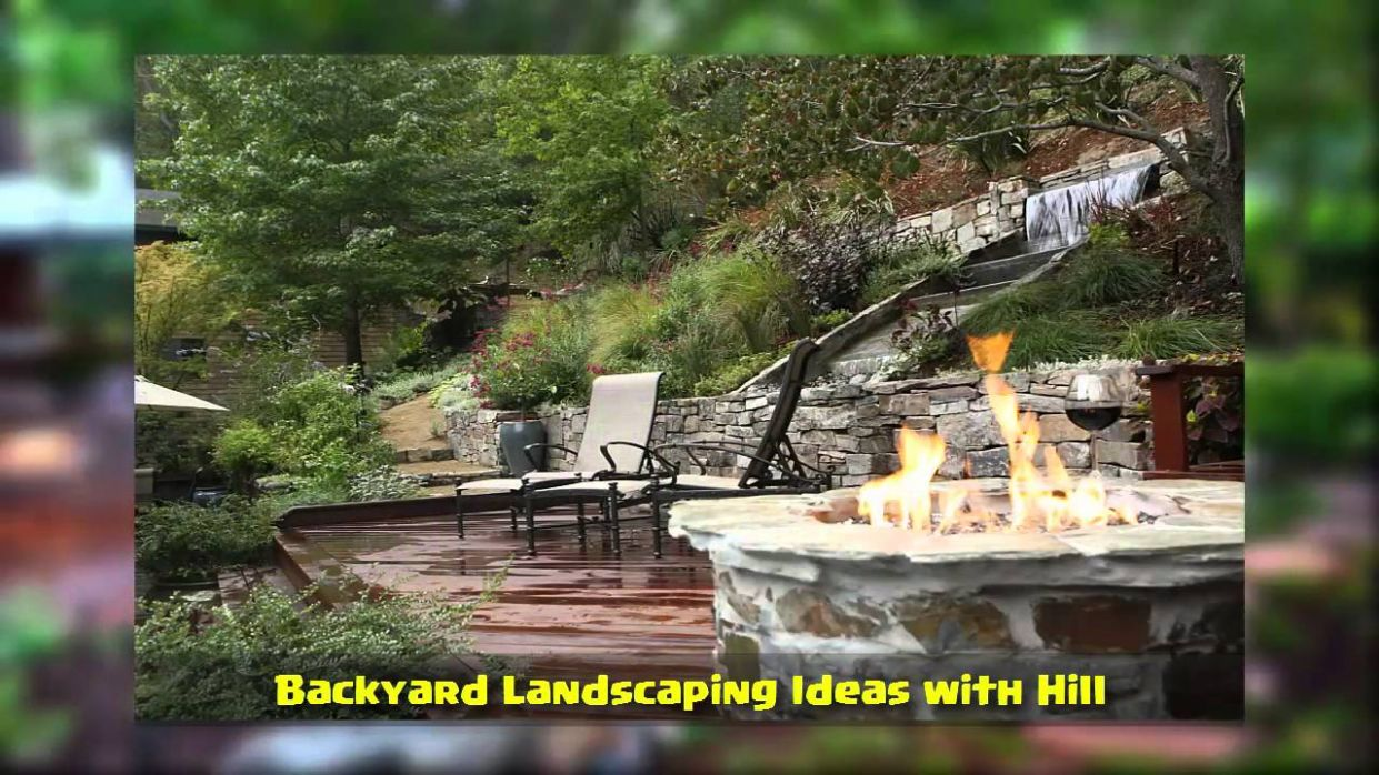 Backyard Landscaping Ideas with Hill