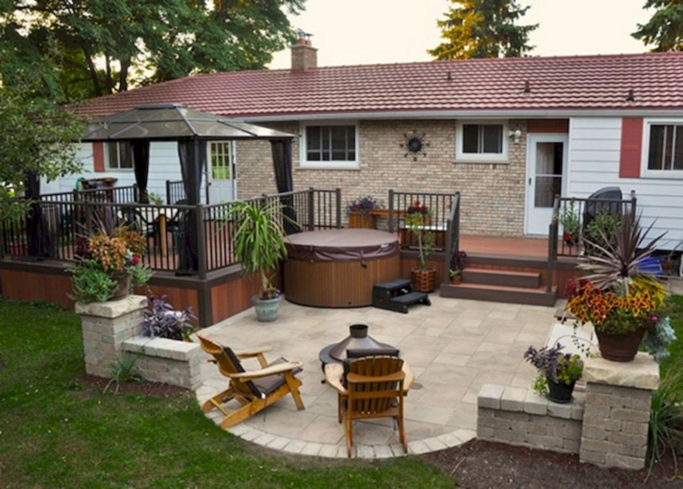 Backyard Quick And Easy Patio Ideas Diy Wood Designs Home Elements ..