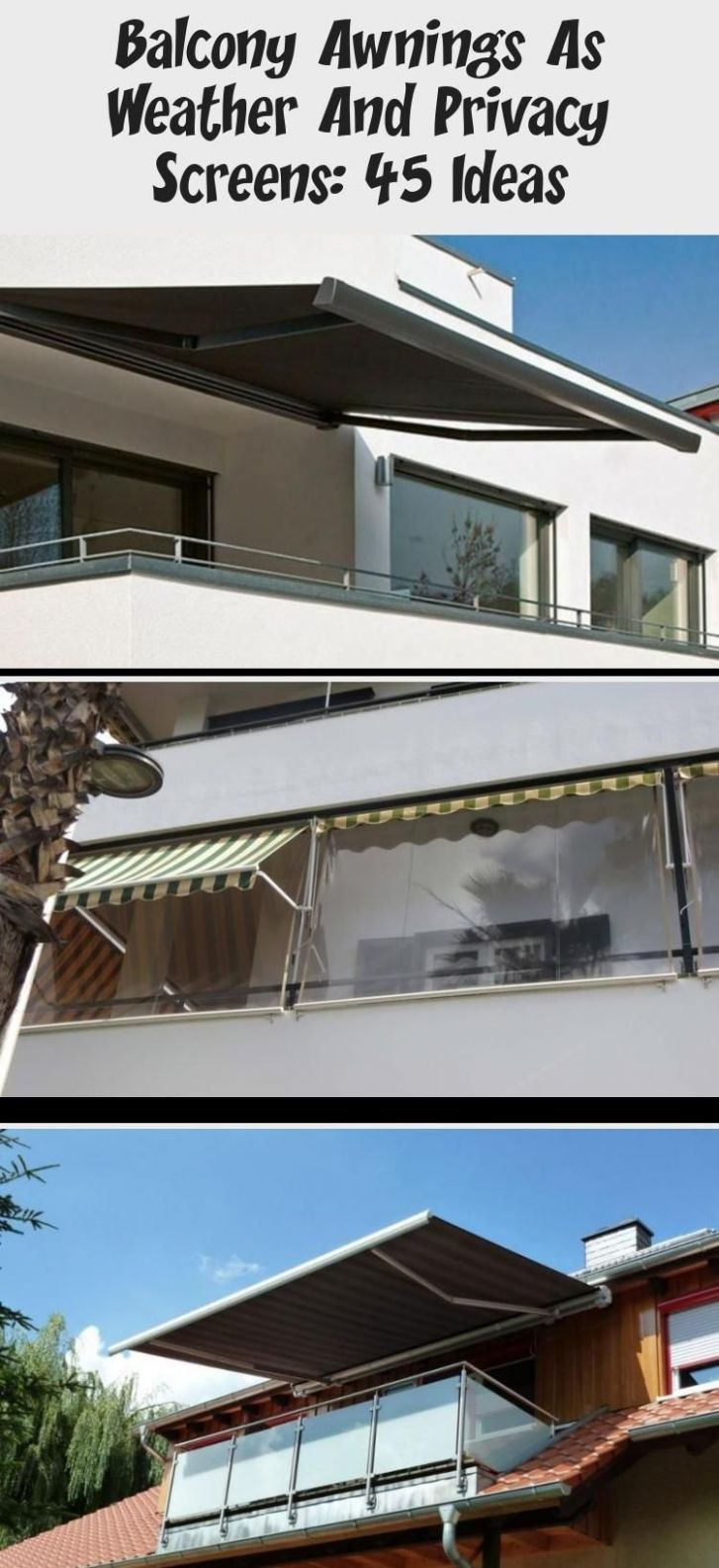 Balcony Awnings As Weather And Privacy Screens: 12 Ideas ..
