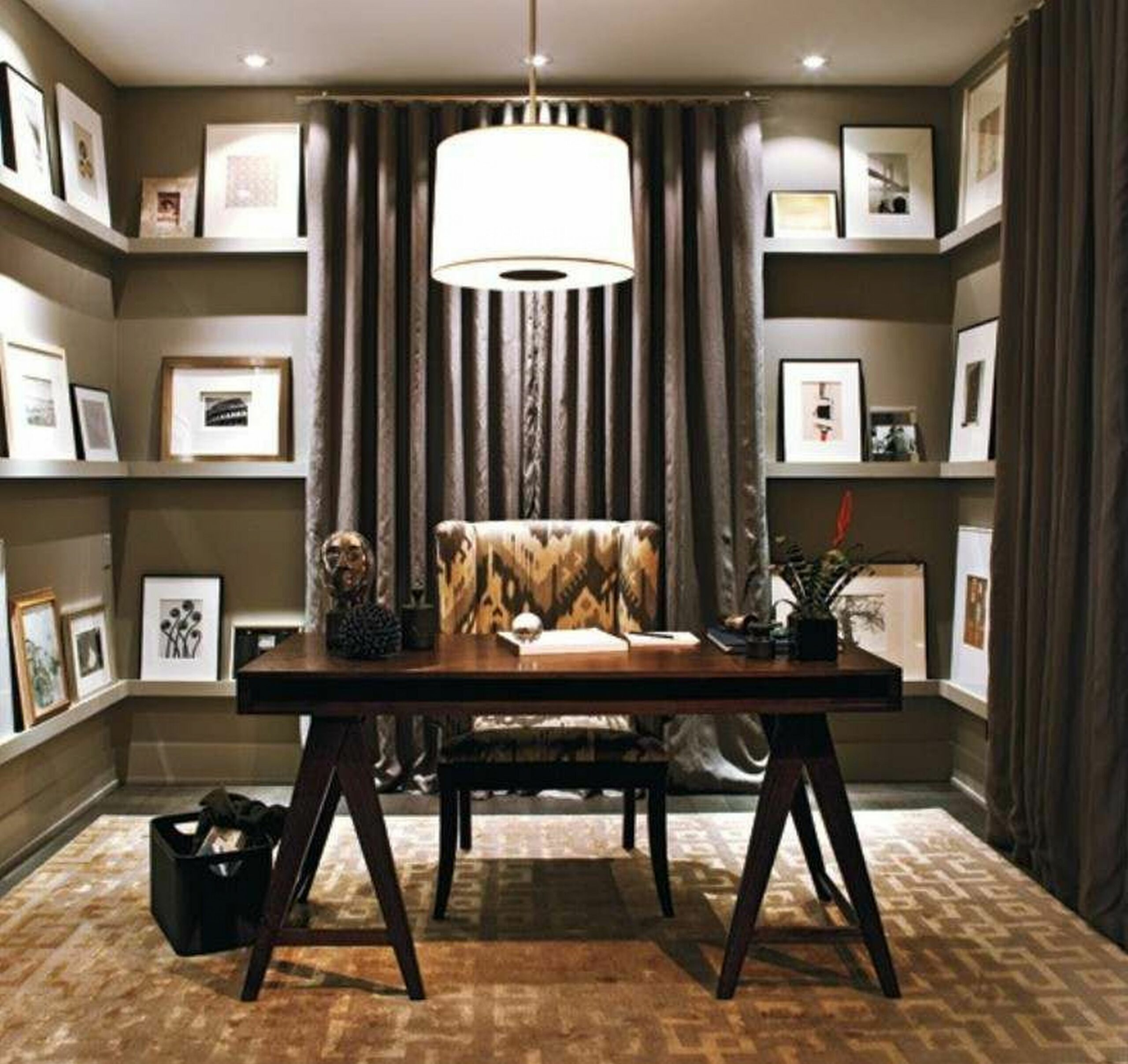 Basement Office Design Ideas – Nellia Designs - home office ideas for basement